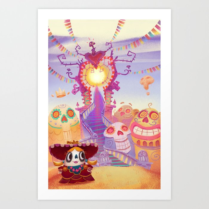Day of the Dead Candy Art Print