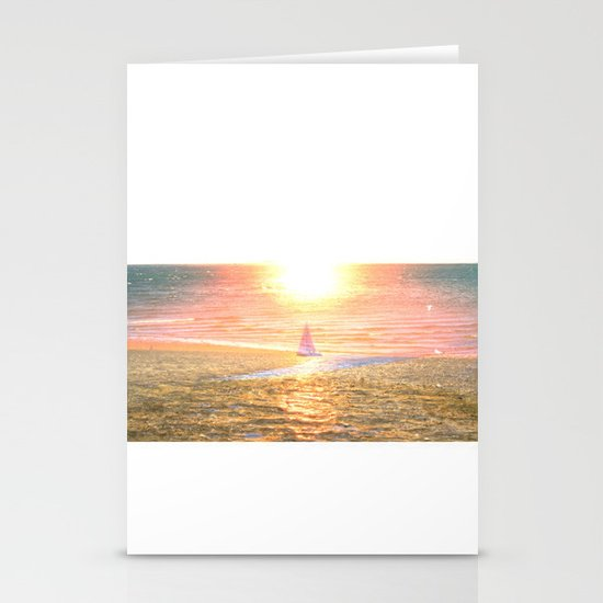 Sail dream Stationery Cards