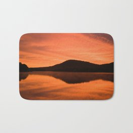 Dawn on Fire: Lac du Saint Sacrement Bath Mat