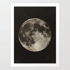 The Moon  [Sans Type] Art Print