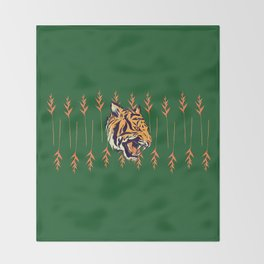 Blood Tiger II Throw Blanket