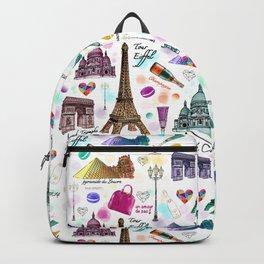 Voyage à Paris (Watercolor) Backpack