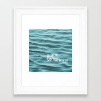 the cure Framed Art Prints featuring SaltWater Cure by Christine Hall