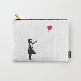 Girl with Balloon - copy of Banksy work Carry-All Pouch