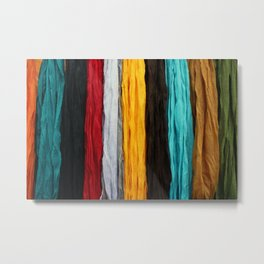 Scarves in Numerous Colors Metal Print