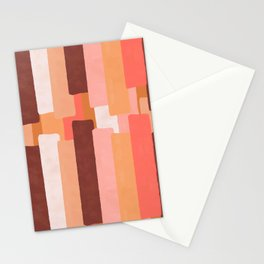 Line In Coral #society6 #abstractart Stationery Cards