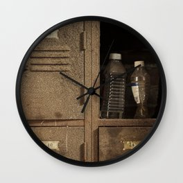 Vintage lockers Wall Clock