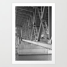 beneath the bridge Art Print