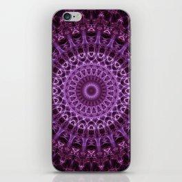 Pretty violet mandala iPhone Skin