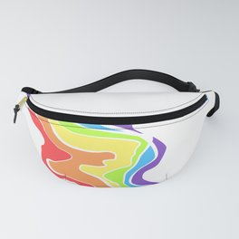 Rainbow Stripe 13 Fanny Pack