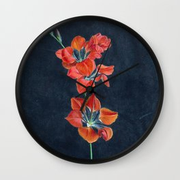 Gash Gold Vermilion Wall Clock