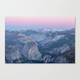 The sun is setting in Yosemite Canvas Print