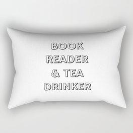 BOOK READER & TEA DRINKER Rectangular Pillow