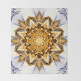 Gold Abstract Throw Blanket