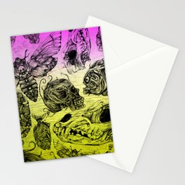 Bones and color Stationery Cards