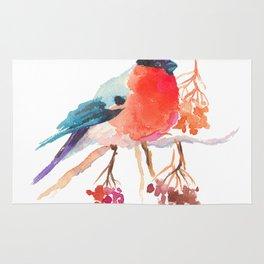 Bullfinch bird Rug