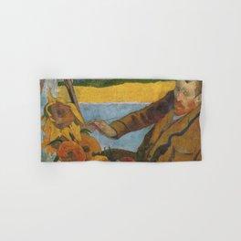 Vincent van Gogh painting sunflowers by Paul Gauguin Hand & Bath Towel