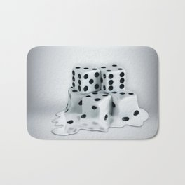 Dice Cubes Melting Bath Mat