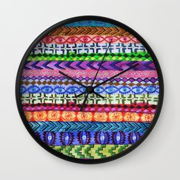 Peru Stripe II Wall Clock