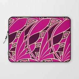 Modern art nouveau tessellations cerise and amber Laptop Sleeve