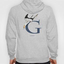 G is for Gannet: Under Appreciated Animals™, ABC nursery kids room decor blue unusual animals Hoody