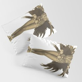 Josephine Baker Feather Costume Pillow Sham