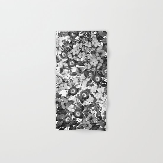 Night Garden Black And White Hand Bath Towel By Nature Magick Society6