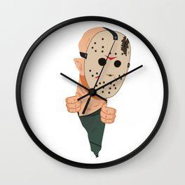 Jason Voorhees peeping Wall Clock