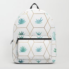 Geometric Succulents Backpack