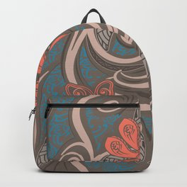 Polynesian Coral Tribal Theads Backpack