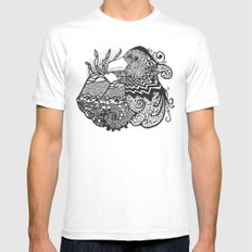 Conscious State Of Dreaming BW Mens Fitted Tee White MEDIUM