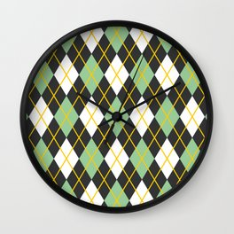 Argyle pattern Wall Clock