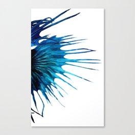 Betta Fish Blue Tail Abstract Modern Left Canvas Print