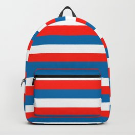 crimea faroe Wichita flag stripes Backpack