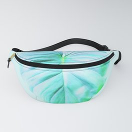 Minimal Jungle - Aqua Tropical Leaf Fanny Pack