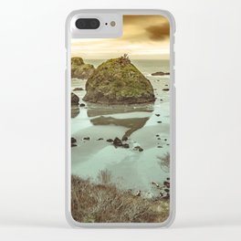 California Ocean West Coast Clear iPhone Case