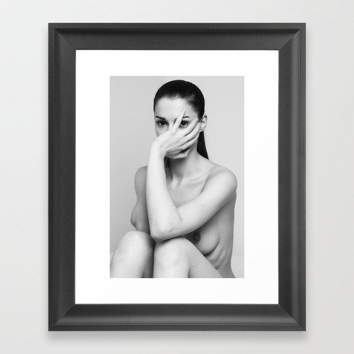 Hide me Framed Art Print