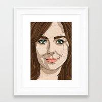 women Framed Art Prints featuring Women by Mimi