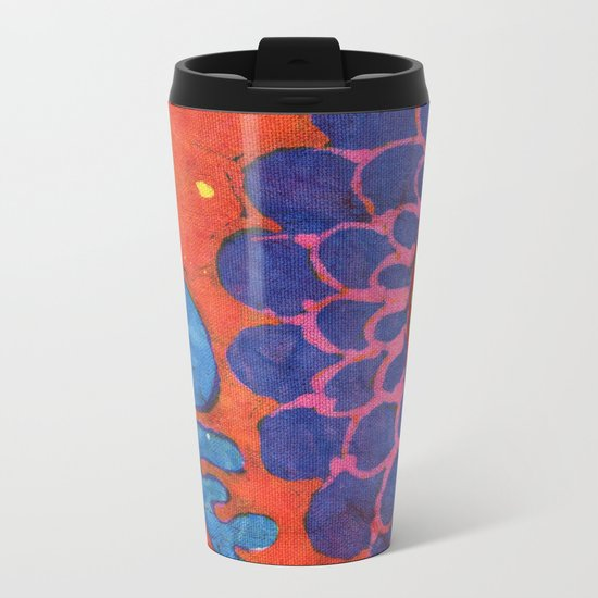 Lori's Flower Metal Travel Mug