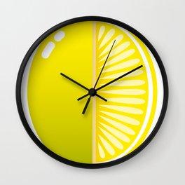 Acid lemon Wall Clock