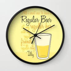 Tv drink quotes [how i met your mother] Wall Clock