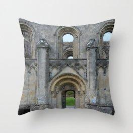 Glastonbury Abbey 1 Throw Pillow