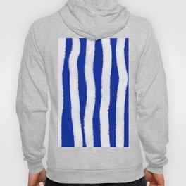 Geometric Classic Blue White Watercolor Stripes Brushstrokes Hoody