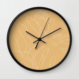 Monstera No2 Yellow Wall Clock