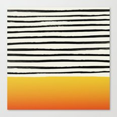 Sunset x Stripes Canvas Print