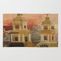 chile Area & Throw Rugs featuring Church in Chile by Karen Chapman