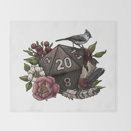 Druid Class D20 - Tabletop Gaming Dice Throw Blanket
