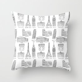 Europe at a glance Throw Pillow