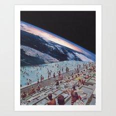 Poolside Art Print