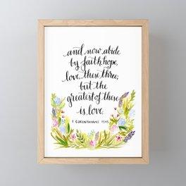 Abide By Faith Framed Mini Art Print